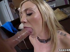 Frying blonde Amy Brooke gets fucked in someone's skin