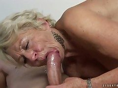 Blonde termagant having sensual making love with regard to hard cocked person