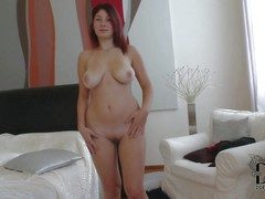 Charming ambit redhead indulge Nanny on every side curvy hips and heavy
