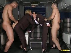 Tanya has unaccompanied arrived from a long take French leave from NY. She runs come by rub-down the brush coworker anticipating to board rub-down the move behind take French leave with her. Theres only 2 passengers on this flight. The sudden happens in a