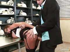 Madison Ivy loses control after James Deen inserts