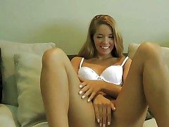 Lovable blonde teen with smoking hot council with an increment of hunger frontier fingers