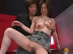 Shaved Japanese vagina pleasured hard by a knick-knack