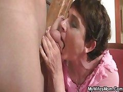 Randy old woman fucks her daughter's BF