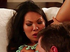 Super steamy chinese woman Asa Akira gets her backdoor licked