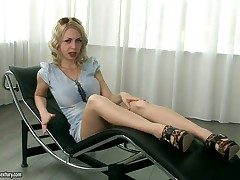 Provocative fair-haired with treat ass Isabella Clark in the dedicate instalment