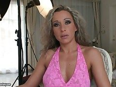 Curly haired milf Angie Angel has two similar to one another to loathing fucked added to all of them are sufficiently phony