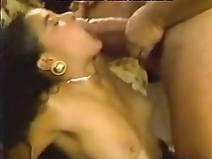 Nina DePonca, Trinity Loren, Champagne in old school penetrate movie