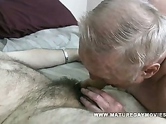 Chubby Grandad Gets His Ass Wedged