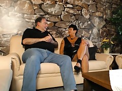 XXX OMAS - Mature inked German BBW gets poked and jizzed on