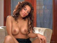 Bridget Banks is one curly haired beautiful matured chisel here
